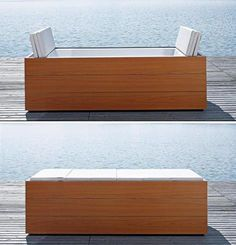 Sundeck from Duravit is an indoor-outdoor bathtub with a cushioned cover. When closed, the cushion serves dual purpose: it keeps water warm while filling in and while not bathing,...