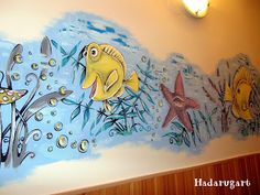 Artizani romani | Mestesugari romani | Pictura pe perete intr-un centru maternal din Campia Turzii Romani, Email, Interior, Handmade, Painting, Art, Art Background, Hand Made, Design Interiors