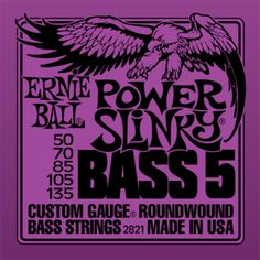 Ernie Ball Slinky Series Bass Guitar Strings