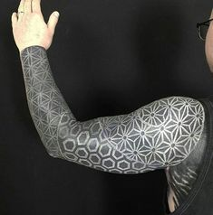 Search inspiration for a Geometric tattoo. White Over Black Tattoo, Black Tattoos, Body Art Tattoos, Best Cover Up Tattoos, Cover Tattoo, Unique Tattoo Designs, Unique Tattoos, Tattoos For Women Small, Tattoos For Guys