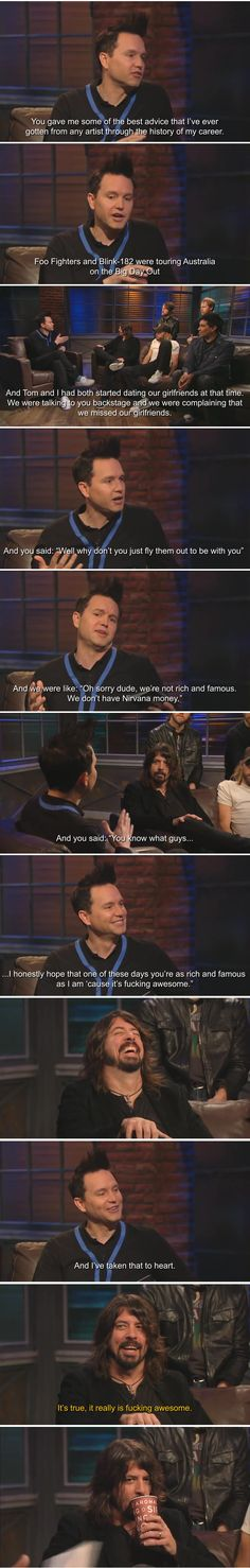 Wise words from Dave Grohl to Blink 182
