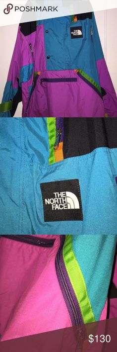 The Northface 90's Style Vintage Windbreaker Men's Great condition ! Shows little  signs of wear. Came out in the 90's! You won't find a better deal that this!Mens size medium! North Face Tops Sweatshirts & Hoodies