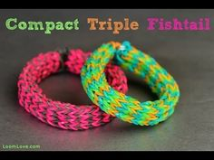 Monster Tail COMPACT TRIPLE FISHTAI. Tutorial by Emily at Loom Love. Click photo for YouTube tutorial. 04/13/14.