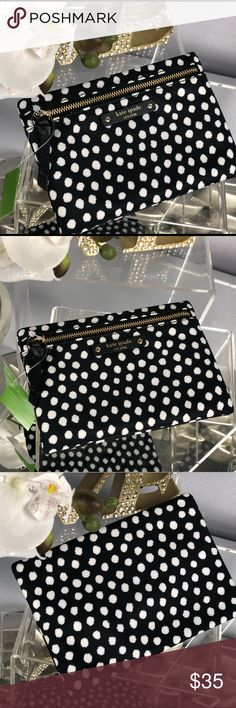 Kate Spade Small Drewe Wilson Rd Polka Dot Wallet Kate Spade Small Drewe Wilson Road Polka Dot Zip Pouch Wallet  BRAND NEW... NWT!!!  Print: Musical Dots Color: Printed Black and White  Material: Nylon Capital Jacquard  *Matching Bags Sold Separately in My Closet Bundle for Discount kate spade Bags Wallets