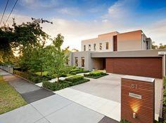 idée d'aménagement extérieur de maison moderne
