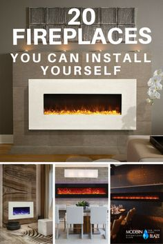 20 Fireplace You Can Install Yourself The post 20 Fireplace You Can Install Yourself appeared first on Decoration. Fireplace Remodel, Diy Fireplace, Fireplace Design, New Living Room, Interior Design Living Room, Interior Livingroom, Foyer Mural, Modern Fireplaces, Modern Electric Fireplace