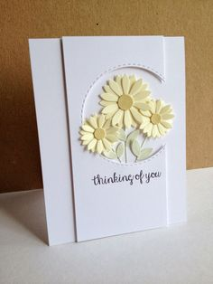 flower cards I used the Upsy Daisy dies from My Favorite Things and made a couple cards with a couple different old sketches for a couple different loo. Cricut Cards, Stampin Up Cards, Karten Diy, Get Well Cards, Sympathy Cards, Cool Cards, Flower Cards, Creative Cards, Greeting Cards Handmade