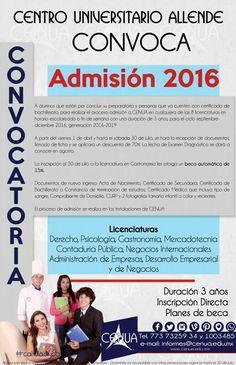 Convocatoria de Admisión a CENUA la primera universidad de Tula