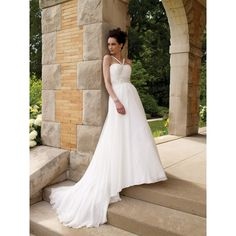 Summer Beach Wedding Dresses | Beach Destination Casual Summer Halter Empire Beaded Wedding Dress ...