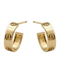 Cartier 18k Yellow Gold Iconic Love Hoops Modnique
