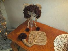 Leo the Lion Crocheted Hat and Diaper Cover - Photo Prop - Available in Newborn to 24 Months Size - Any Color Combination