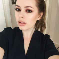 """""""A selfie of me wearing the makeup from the tutorial I just uploaded to my YouTube channel (link to the video is in my bio or search """"Tanya Burr"""" on…"""""""
