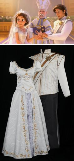 rapunzel & flynn ryder custom wedding attire #disney #tangled #rapunzel