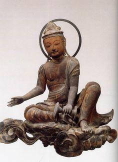 'National Treasures of Japan' Statue of Unchu Kuyo Bosatsu (one of 53 statue) 1053. @Byodoin Temple