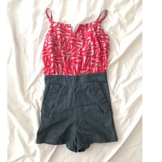BCBG Romper Like new Cute BCBG romper. Perfect for the up coming spring. BCBGeneration Shorts