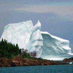 Salvage Bay, Newfoundland, an iceberg.