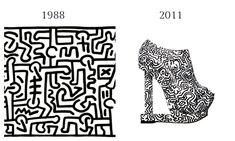Keith Haring, 1978 and Nicholas Kirkwood, 2011