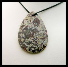 Natural Large Deschutes Jasper Focal Bead by GemsoftheNorthwest, $38.00