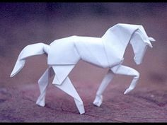 Origami horse -- the video instructions look simpler than the diagrammed ones.  Haven't tried this one as yet.
