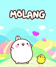Endless supply of plush toys, bags and figures of Molang and Piu Piu (Korean kids' show).