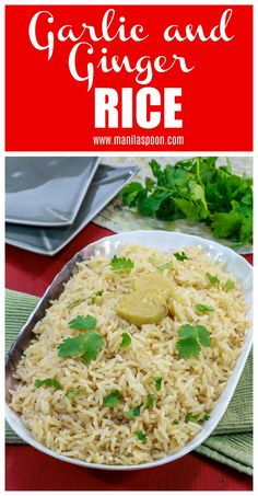 Rice Dishes, Food Dishes, Side Dish Recipes, Easy Dinner Recipes, Dinner Ideas, Side Dishes Easy, Main Dishes, Ginger Rice Recipe, Vegetarian Recipes