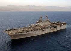 USS Kearsarge...  USS Kearsarge (LHD-3) is the third Wasp-class amphibious assault ship of the United States Navy. She is the fifth ship to be named (the fourth actually commissioned) in honor of the USS Kearsarge, a sloop-of-war that gained fame during the American Civil War,