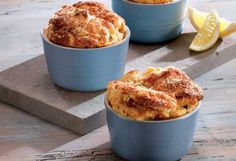 Le Creuset's hot smoked salmon soufflés with a parmesan crust