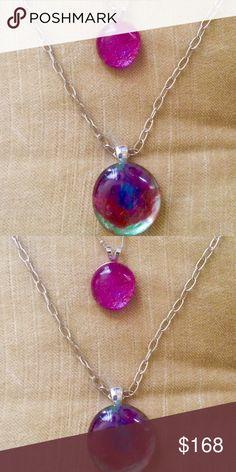 MARS RISING Pendant Necklace Sterling Silver Sterling silver pendant and chain. Double layered. Vibe: Desigual, Gucci Studio Berkeley Jewelry Necklaces