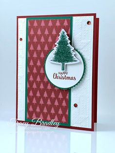 Stamping With Tracy - Page 2 of 138 - Stampin' Up! Christmas Tree Cards, Christmas 2019, Diy Paper, Paper Crafts, Card Making Tips, Heartfelt Creations, Pine Tree, Diy Cards, Cardmaking