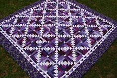 ... Quilt Patterns, Pineapple Quilts, Bonnie Hunter, Blossom Quilt, Purple