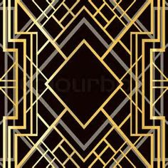 Free font of the great gatsby deco pinstripe on behance turn of vector of art deco geometric frame style stock vector illustration fandeluxe Image collections