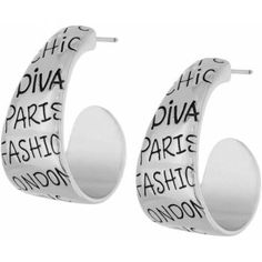 Yes, if you know me, you know this is how I roll....lol.. Diva Hoop Earrings  available at #Brighton #winourhearts