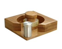 The Bamboo Desk Tape Dispenser is one of our favorites. It takes a normal everyday  tape dispenser to a new level!