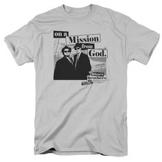 BLUES BROTHERS MISSION Adult Regular Fit Short Sleeve T-Shirt