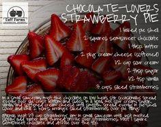 Chocolate Lovers Strawberry Pie!