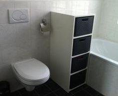 Zelf gemaakte wasmand ombouw. Curver wasmanden maat L. Ik gebruik ze voor handdoeken, gekleurde was, witte was en zwarte was.