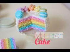 [Tuto Fimo] Gâteau Macaron Arc-en-ciel