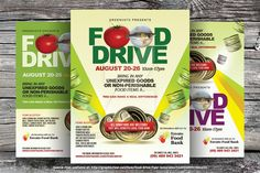 Food Drive Flyer Templates are design templates created for sale on Graphic River. More info of the templates and how to get the sourcefiles can be found on this page: graphicriver.net/item/food-dr...