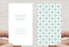 Business Card, Moroccan Geometric Circles. Printable Custom Digital Download DIY. vertical design