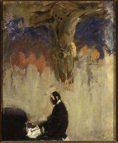 Muzeum Cyfrowe dMuseion - Feliks Jasieński przy organach, szkic
