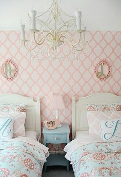 Beautiful shared girls room