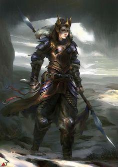 Female Warrior by Abe Taraky