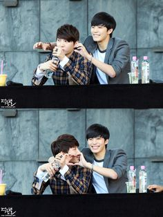 Leo and Hongbin of VIXX being cute together. ^_^
