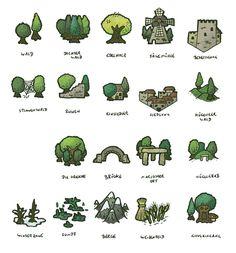 Hexploitation by DarthAsparagus on DeviantArt Fantasy Map Making, Fantasy World Map, World Map Art, Maps Design, Map Sketch, Village Map, Map Marker, Map Icons, Map Painting