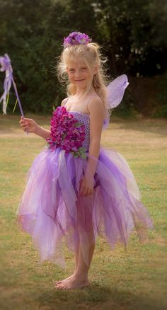PURPLE , lavender and lilac fairy dress,  OOAK, tutu, Flower girl, Bridesmaid, photo prop, Princess, flower fairy, dress up, fantasy, magic by TheLittleLilacFaerie on Etsy