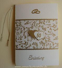 einladungskarte goldene hochzeit | selber basteln mit schönen, Einladung