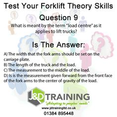 Forklift question of the day 9 from http://ift.tt/1HvuLik #forklift #training #safety #jobsearch