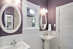 Purple and White Bathroom Paint Color purplebathroom purple bathroom lavender bathroomideas decorhomeideas 495677502738496132 Plum Bathroom, White Bathroom Paint, Lavender Bathroom, Purple Bathrooms, Bathroom Paint Colors, Bathroom Interior, Small Bathroom, Bathroom Ideas, Bath Ideas