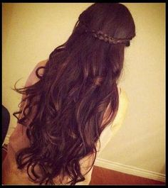 crown braids dark brown hair