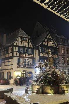 Noël en Alsace, dans la vallée de Kaysersberg | Flickr - Photo Sharing!